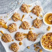 Rustic gorse cookies