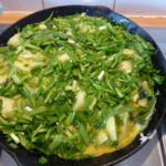 Alexanders and Three-Cornered Leek Frittata