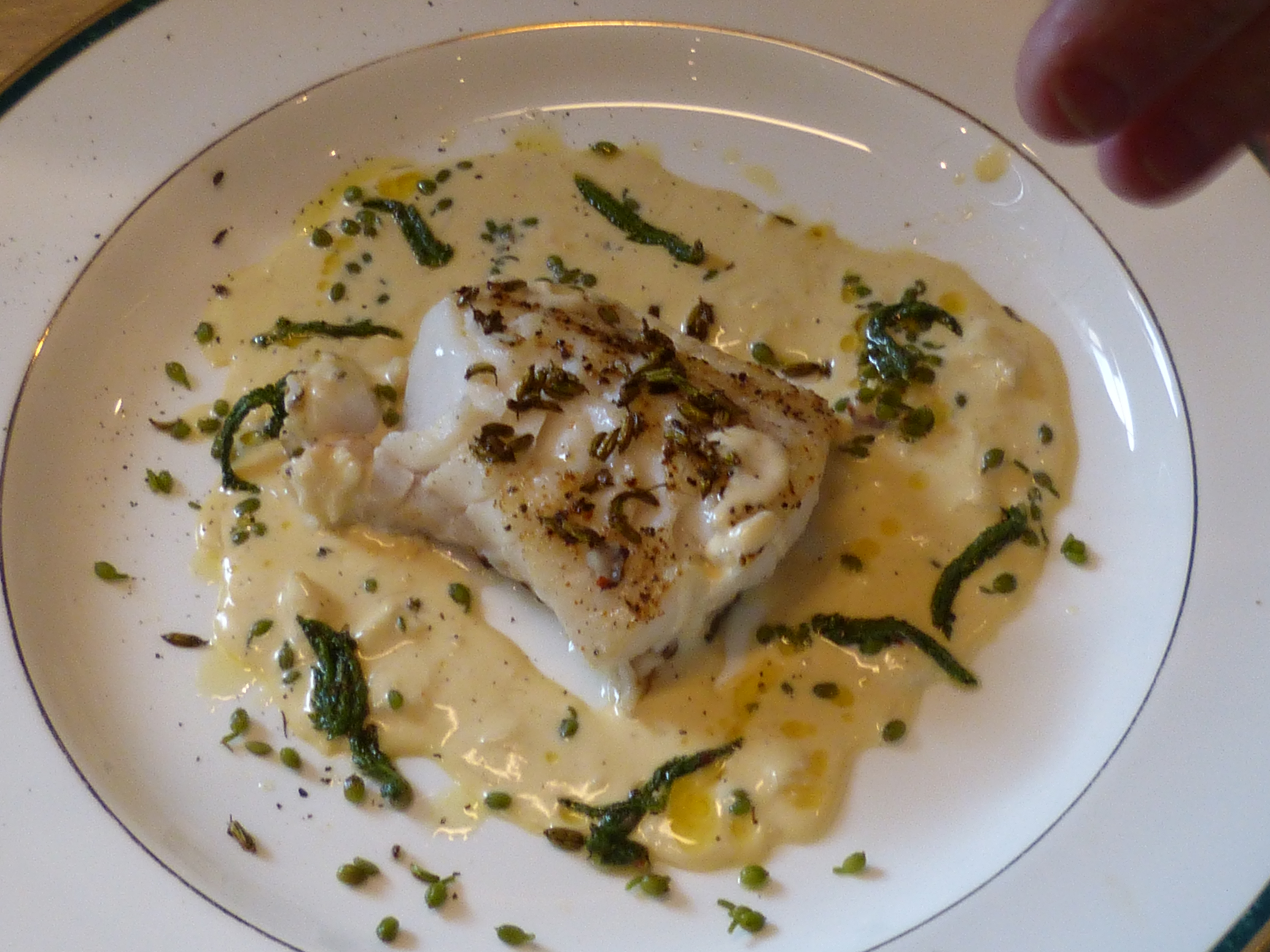 Cod with Creamy Shellfish and Wild Spices