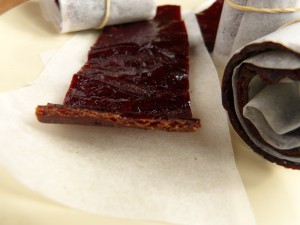 detail of fruit leather