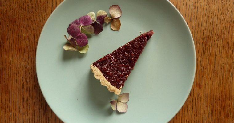 Winter Warming Sloe Treacle Tart