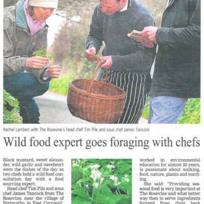 Foraging with Chefs, Cornish Guardian, March 2013