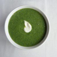 Bowl of homemade nettle soup