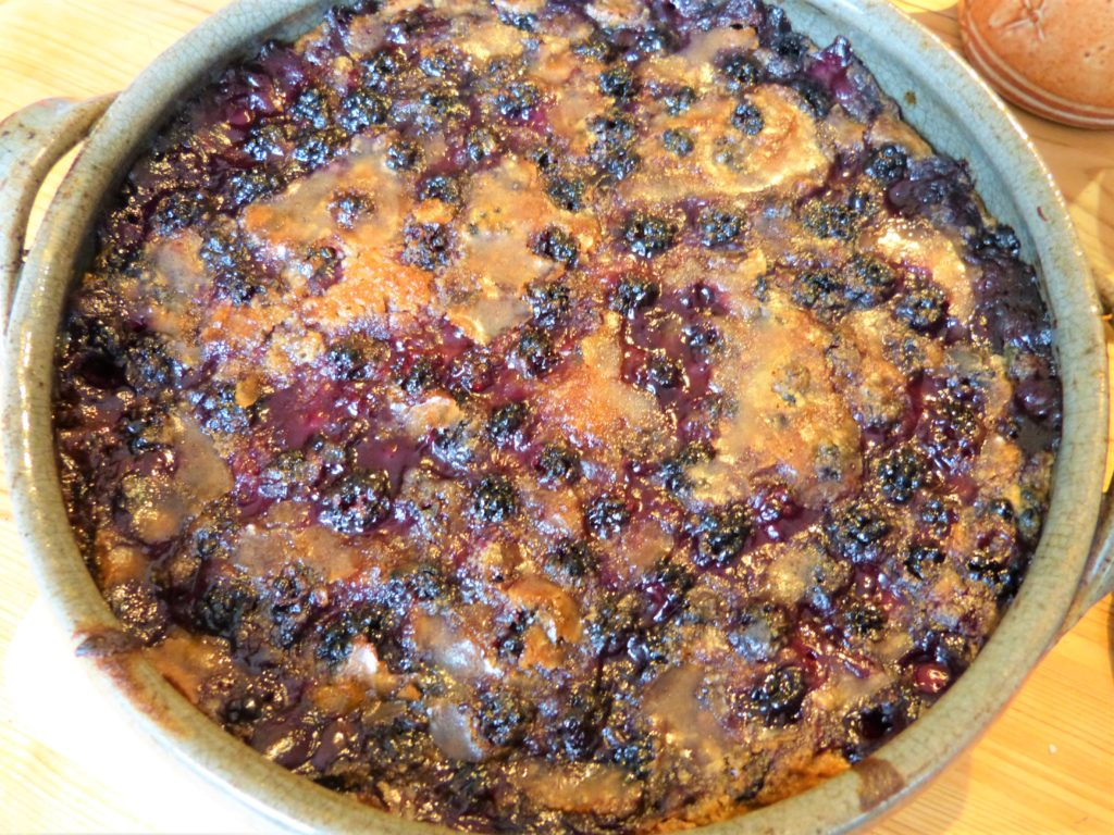Dish of Blackberry Cobbler