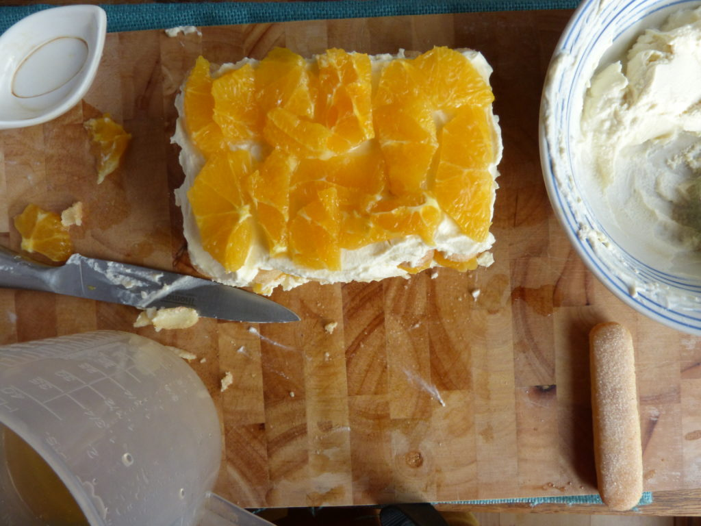 Making a cake flavoured with elderflowers