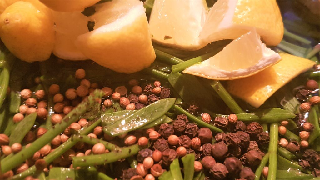 the process of pickling rock samphire