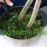 Making Nettle Pakoras