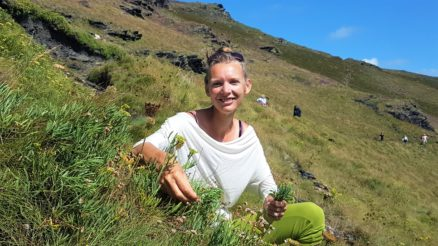 Forager Rachel Lambert on her holiday, picking samphire!