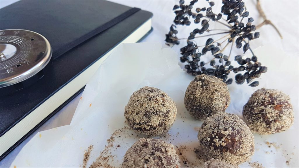 Little black book of songs and wild, seasonal chocolate truffles