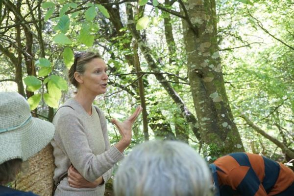 Rachel Lambert leads a foraging walk, punctuated with songs