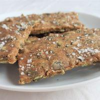 A plate of freshly baked seaweed crispbreads