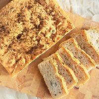 slices of homemade nori bread