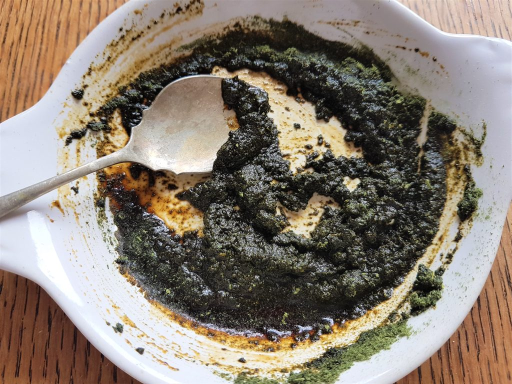 Nettle and soy sauce paste