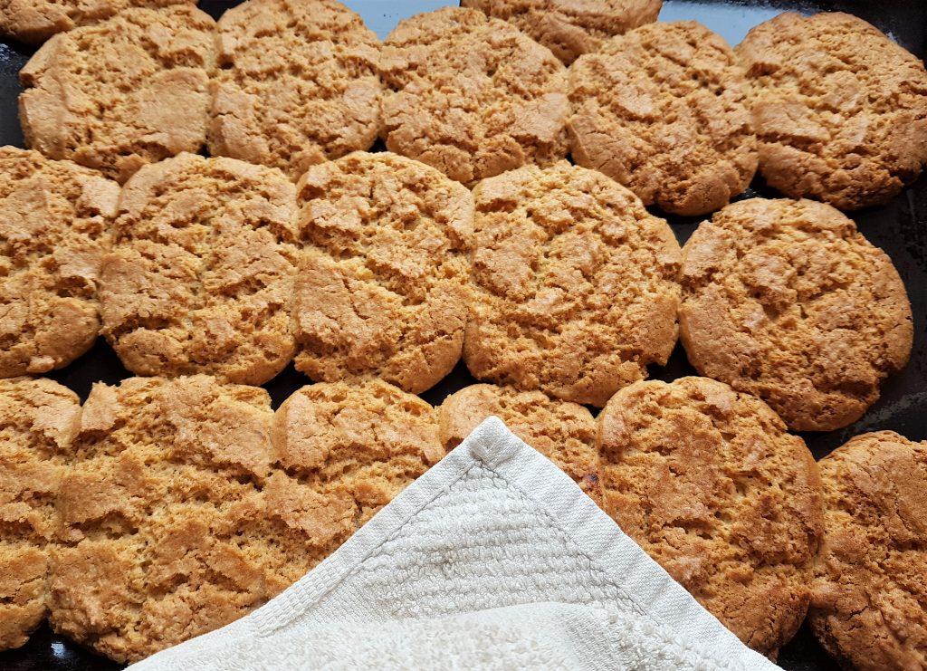 Freshly baked hogweed seed biscuits