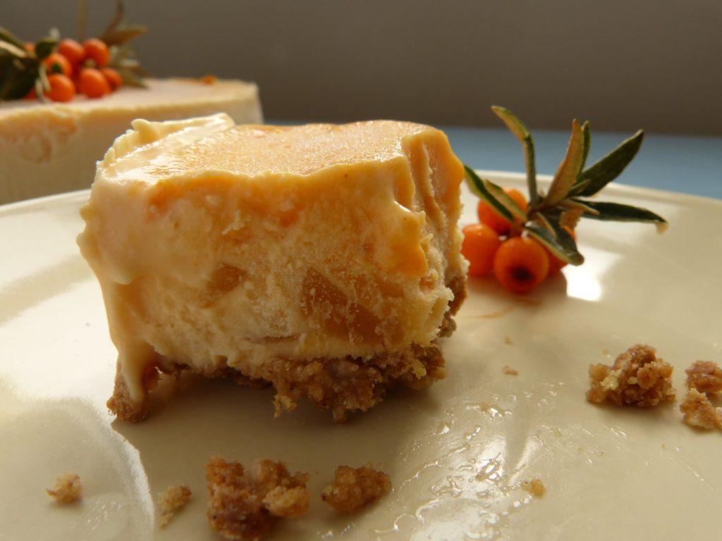 almost eaten - sea buckthorn cheesecake