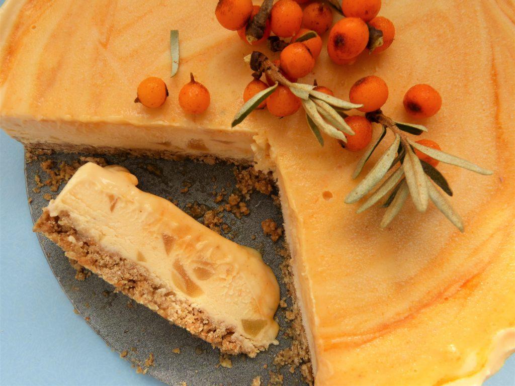 Image of frozen sea buckthorn cheese cake