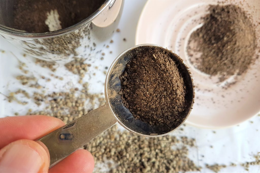 spoonful of cleaver coffee grains