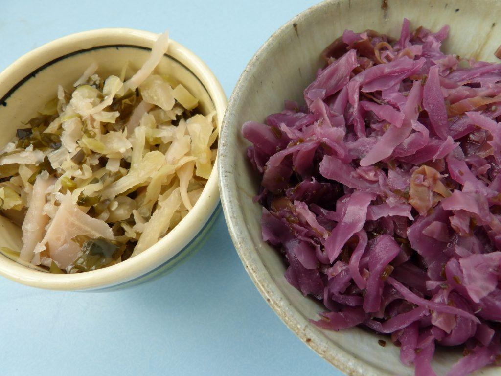 Alaria seaweed kimchee and sauerkraut