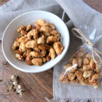 Gift wrapped, homemade, wild spiced candied almonds
