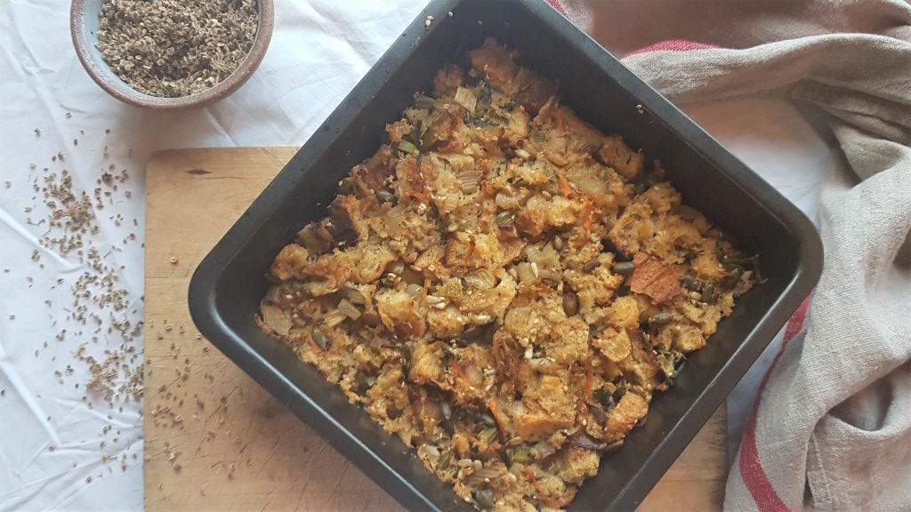 Homemade stuffing with wild ingredients