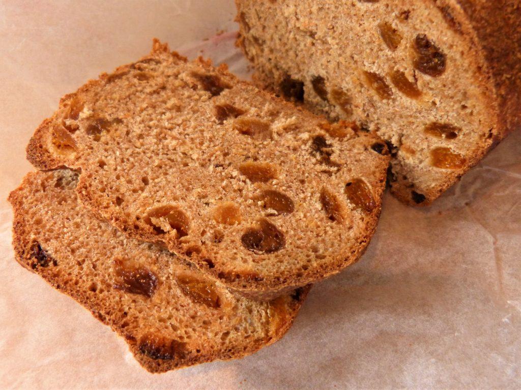 Homemade apricot and elderflower bread  by forager Rachel Lambert