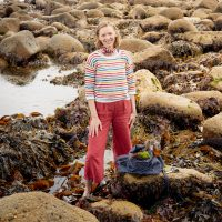 Seaweed gathering in Cornwall on a seaweed foraging course