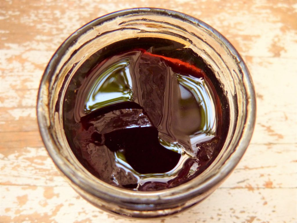 Jar of wild rowan jelly from a foraging course