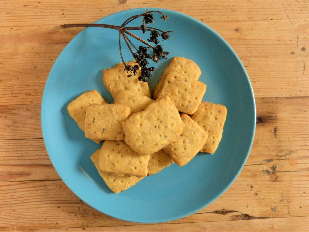 Wildly spiced shortbreads for a foraging course in Cornwall